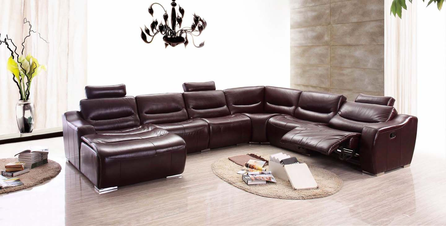 Leather Sectional Sofa Couch