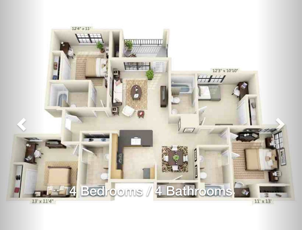 My Apartment Layout For Next Year Small House Layout Small House Plans 3d House Plans