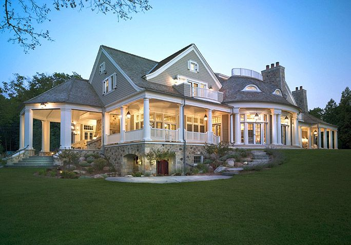 Exterior Home Design Styles With Shingle Style Homes Lake House - Exterior-home-design-styles