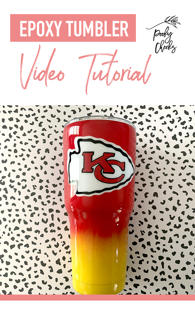 Epoxy Tumbler Tutorial Ombre Spray Painted - Poofy Cheeks