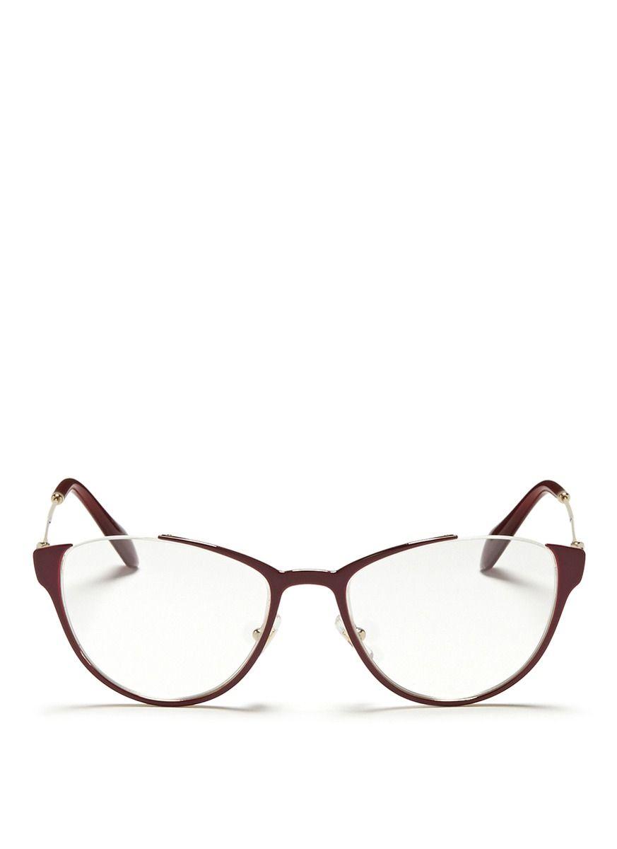 MIU MIU - Semi rimless coated metal optical glasses | Red Optical ...
