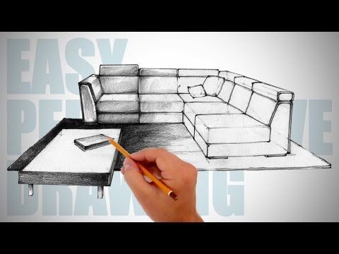 How To Draw Furniture Easy Perspective Drawing 12
