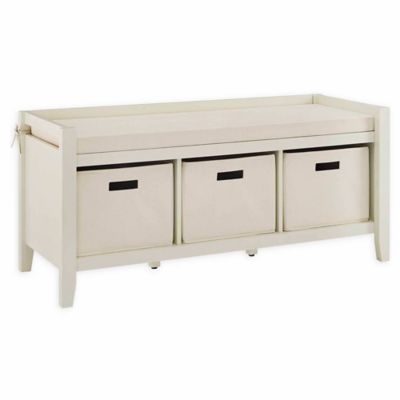 Super Linon Home Winston Entry Bench In White Cream Products Cjindustries Chair Design For Home Cjindustriesco