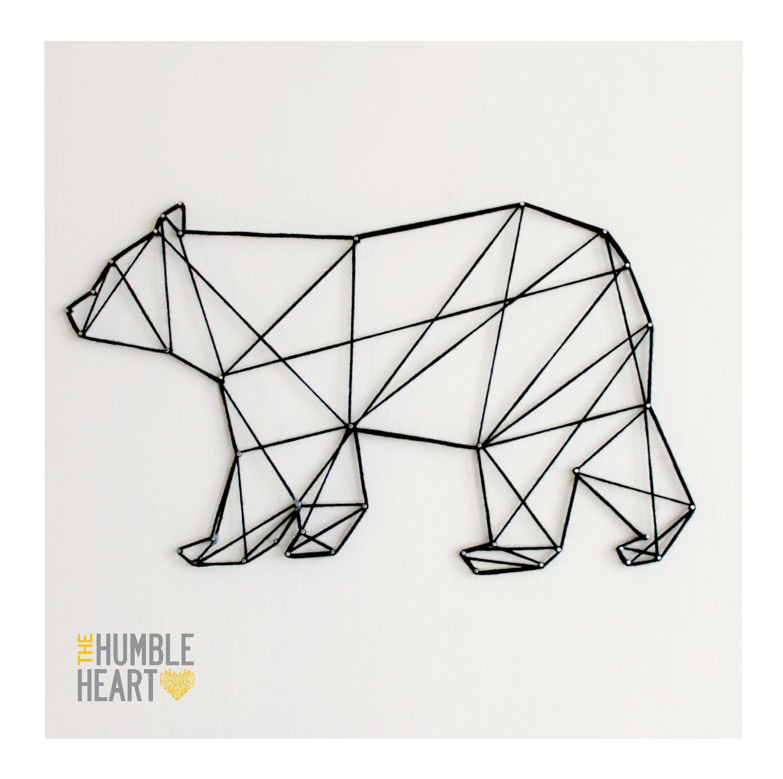 Bear Abstract Tape Art