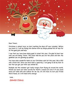 Free Santa Letter christmas Pinterest