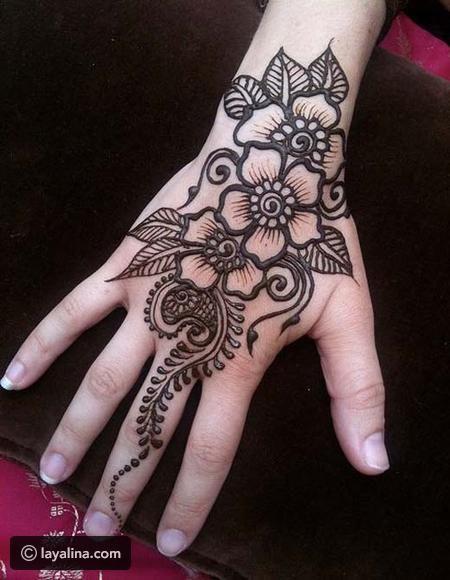 أجمل نقوش حناء ٢٠١٧ لعيد الفطر ليالينا Henna Tattoo Designs Henna Flower Designs Flower Henna