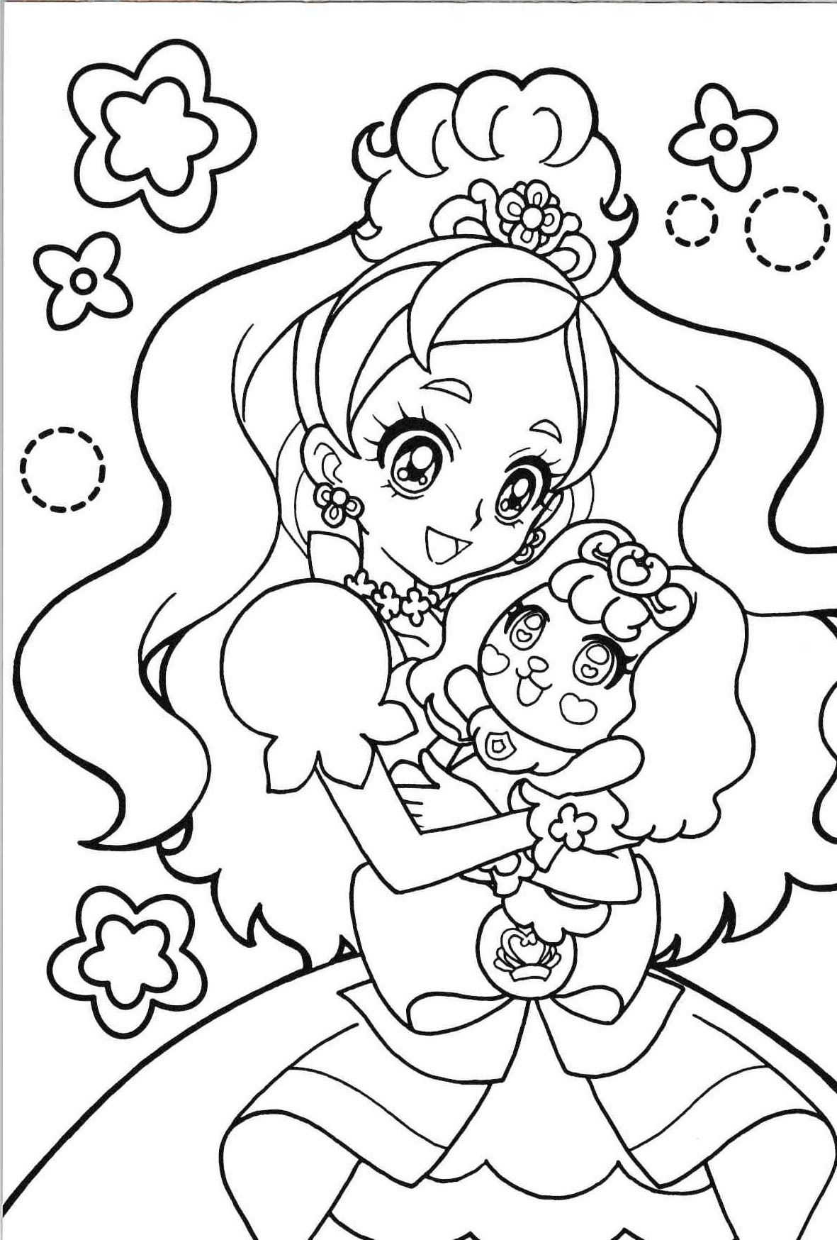 princess precure cure twinkle anime coloring pages
