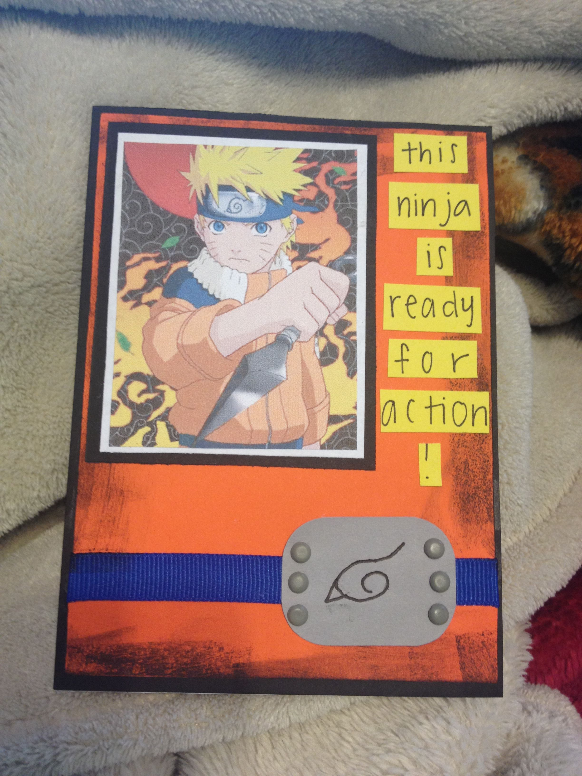 A naruto birthday card naruto birthday birthday cards