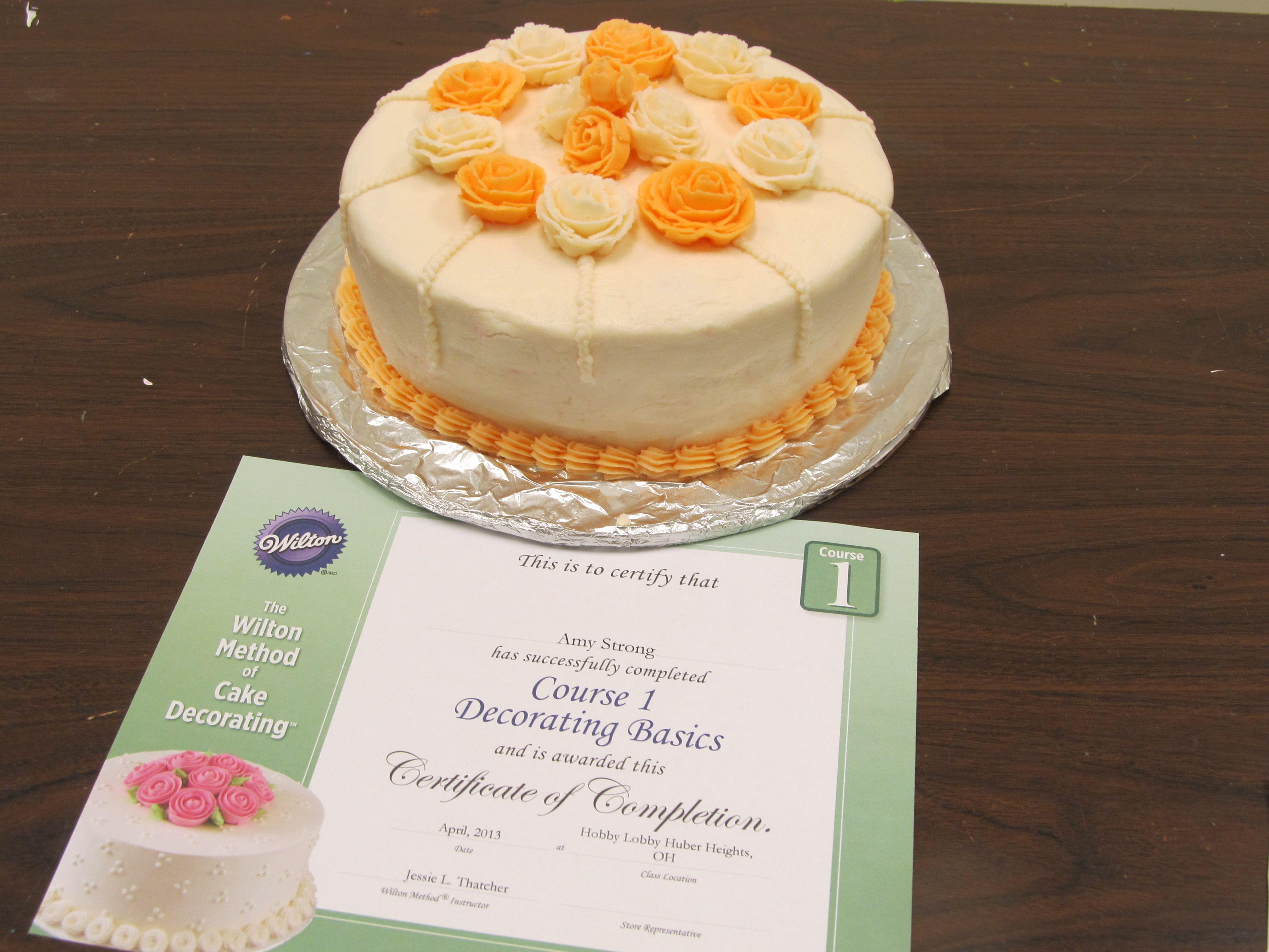 Finished product  Cake decorating classes, Cake decorating