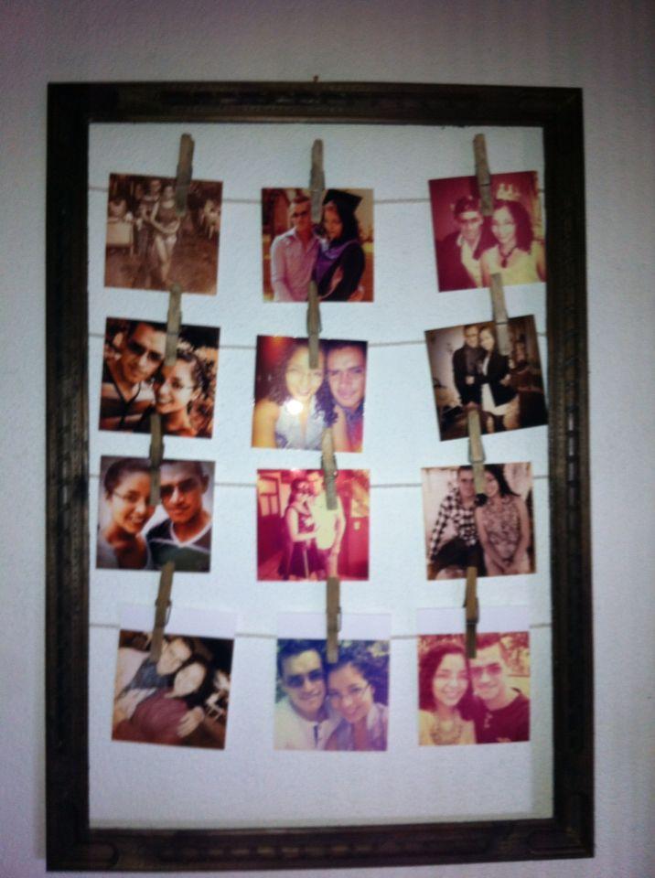 Regalo de tercer aniversario para mi novio, hecho con un marco tipo ...