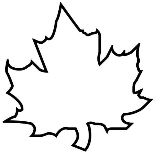 Раскраски Листья деревьев лист клена | Трафарет листа ...