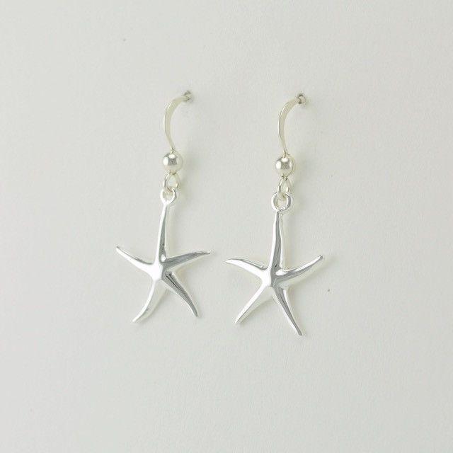 [703] sterling silver starfish dangle earrings
