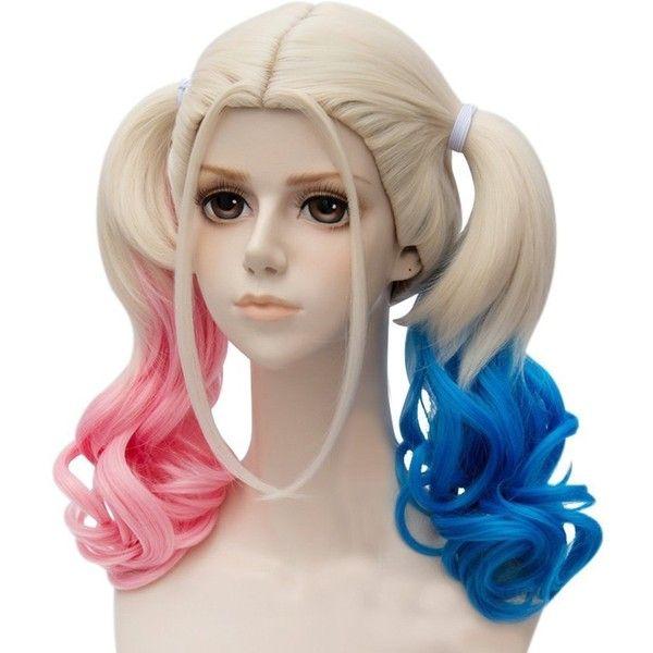 Anogol Blue Pink Fancy Dress Costume Wig Lolita Wigs DM 578 ($25) ❤