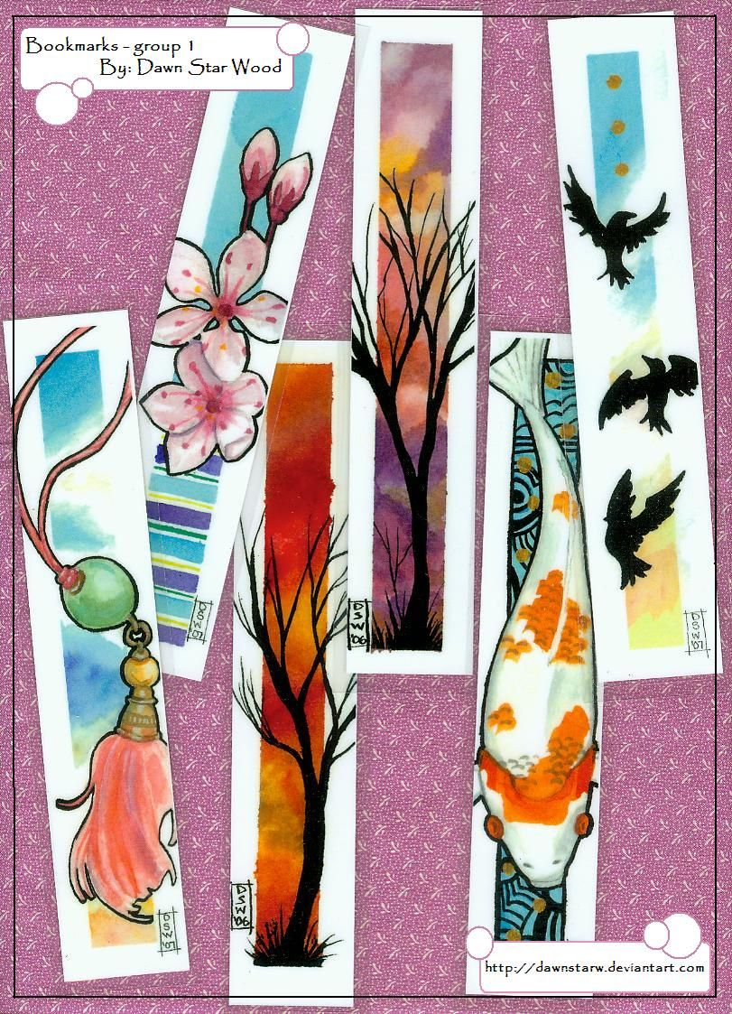 Watercolor bookmarks - Bookmarks Group 1 By Dawnstarw On Deviantart