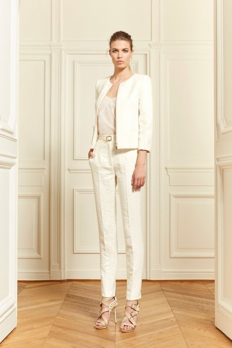 Zuhair Murad White Pants Office Outfit Spring 2014 Fashion Trend