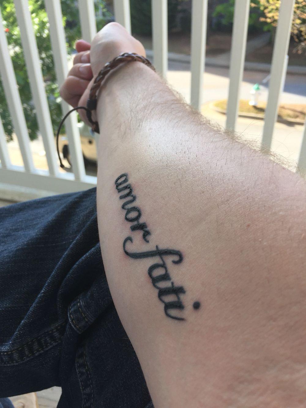 """amor fati forearm tattoo """"Love your fate"""" Tattoos"""