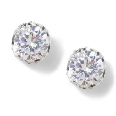 10mm Cubic Zirconia Round Titanic Set Stud Earrings Womens Earrings Studs Jewelry Earrings Studs Jewelry