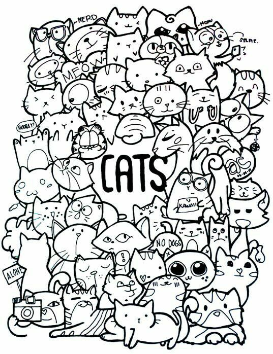Cute Doodle Art Doodles Kawaii Ideas Sharpie Drawings Doddle Adult Coloring Pages