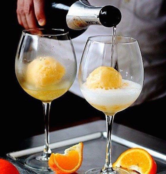Orange Sherbert Easy Mimosa Recipes