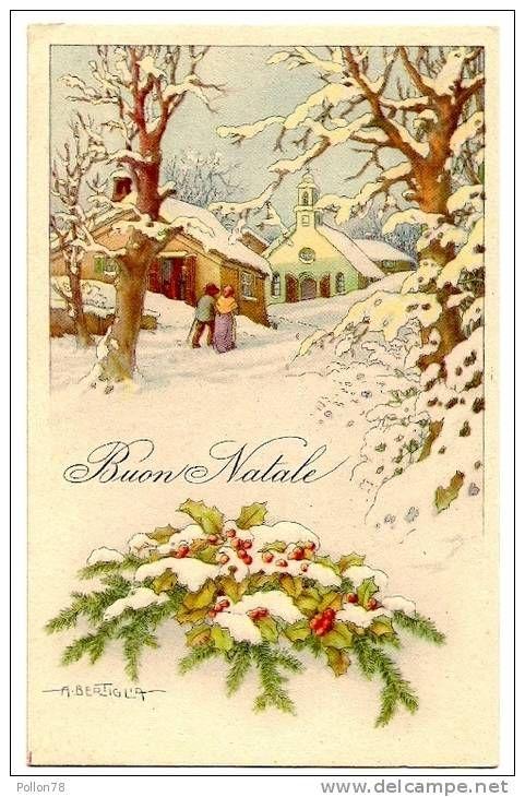 Immagini Natale Vintage Gratis.Illustratore A Bertiglia Buon Natale Vedi Retro