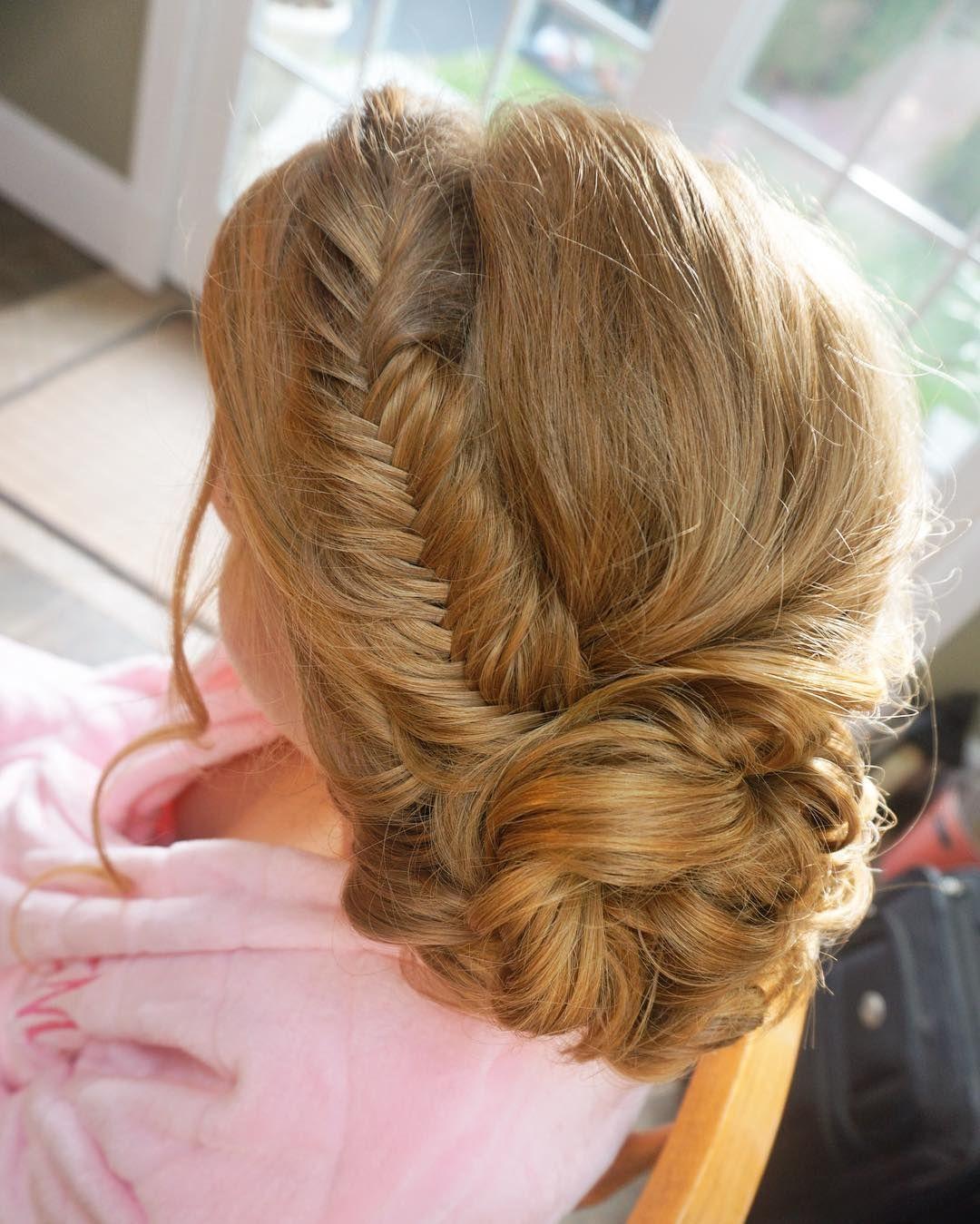 hair vibes today 🙌🏻 fishtail braid, redhair, wedding hair, wedding