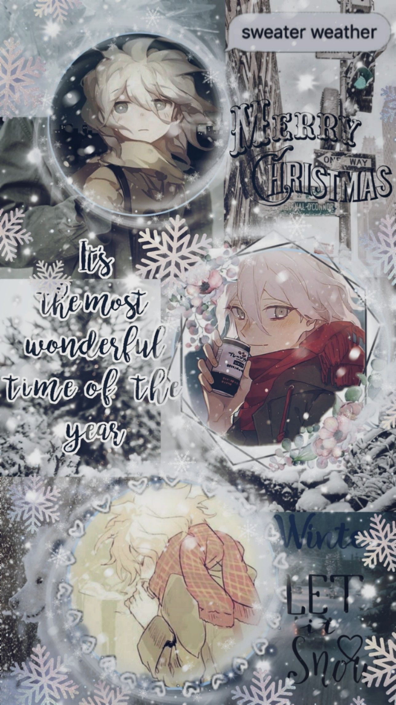 Nagito Komaeda Winter Aesthetic Cute Anime Wallpaper Anime Wallpaper Iphone Anime Wallpaper