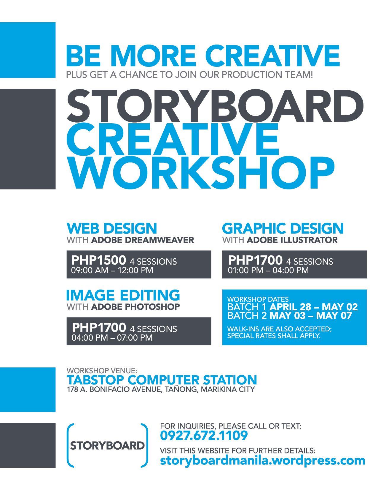 Poster design rates - Workshop Poster Google Search