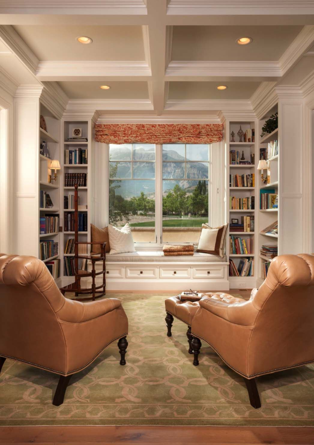 36 fabulous home libraries showcasing window seats for Mini library at home