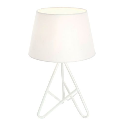 Modern funky gloss white twisted tripod lounge bedside table lamp modern funky gloss white twisted tripod lounge bedside table lamp light shade aloadofball Images