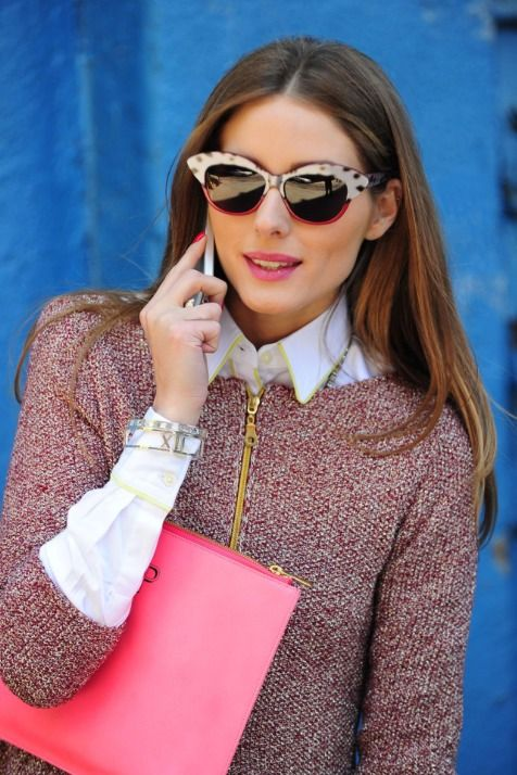 Olivia Palermo - my fashion guru. Bringing out the fresh and feminine rosa shades the trend for this autumn.