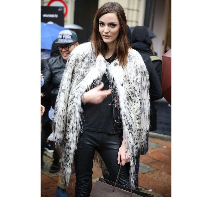 Street look à la Fashion Week de Milan automne-hiver 2014-2015, Jour 1 http://www.vogue.fr/defiles/street-looks/diaporama/fashion-week-milan-les-street-looks-automne-hiver-2014-2015-jour-1-fw2014/17632/image/956452#!9