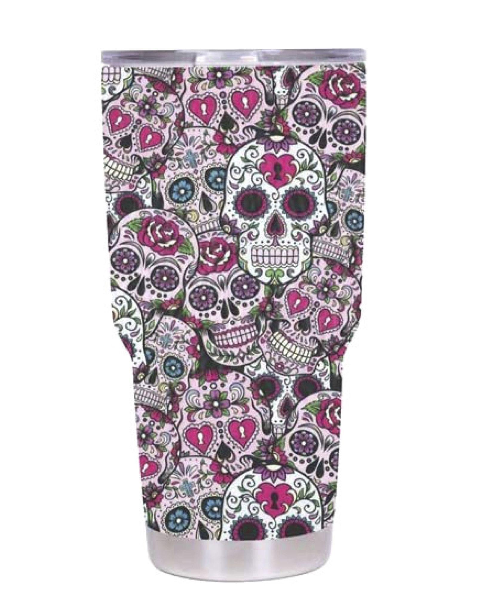 Pink Sugar Skull YETI Oz Rambler Tumbler Products Pinterest - Sugar skull yeti cup