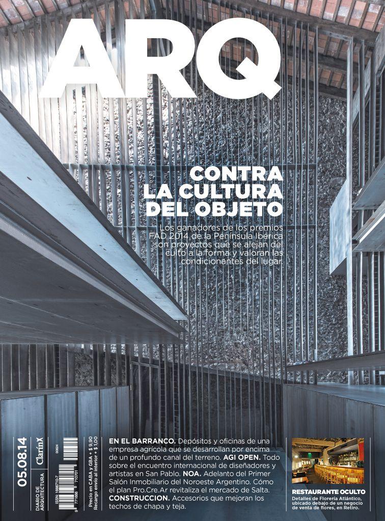 Tapa de la edición impresa de ARQ del martes 5 de agosto de 2014