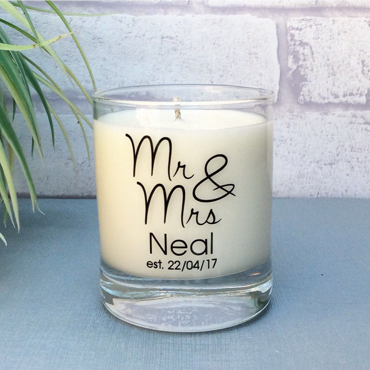 New Mr Mrs Wedding Candle Available Now The Perfect Keepsake Gift Wedding Gifts For Couples Personalized Candles Thoughtful Wedding Gifts