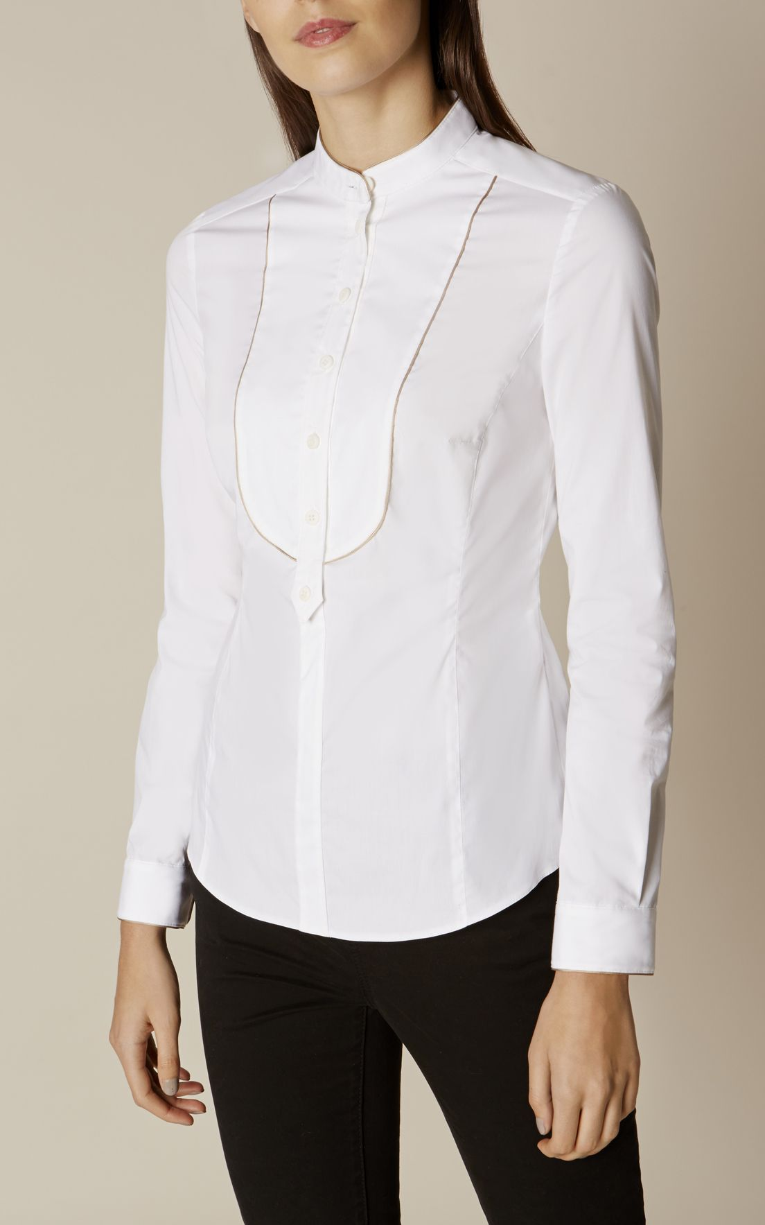 73b3156030e Karen Millen, BIB- FRONT SHIRT White | Things to Sew. Shirts & Pants ...