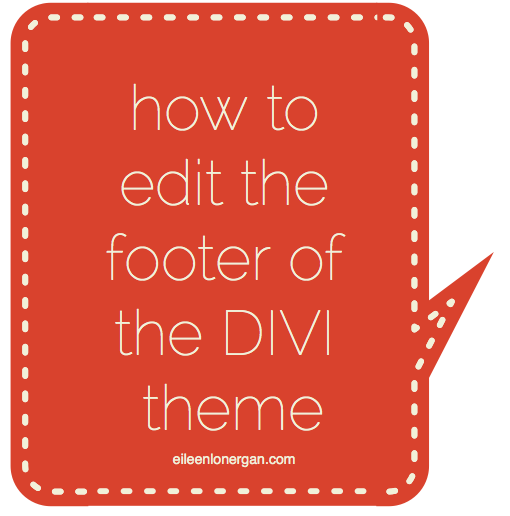 How to edit the footer of the divi theme | WordPress tips by