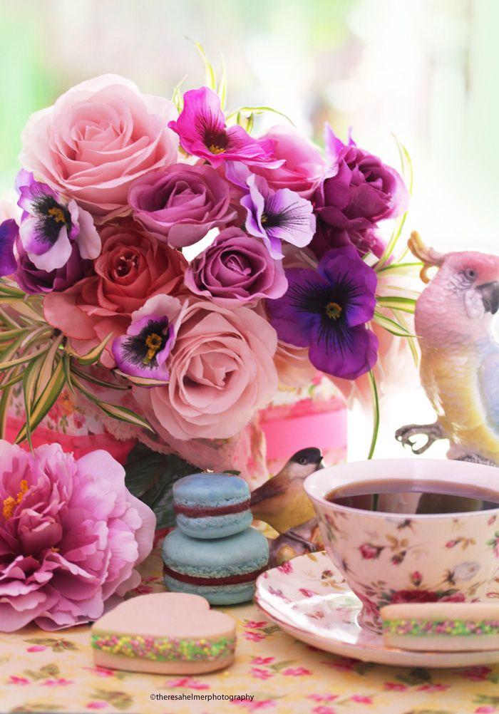 Доброе утро женщине картинки с цветами