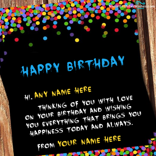 Best Happy Birthday Wish Cards With Name | HBD Wishes | Pinterest ...