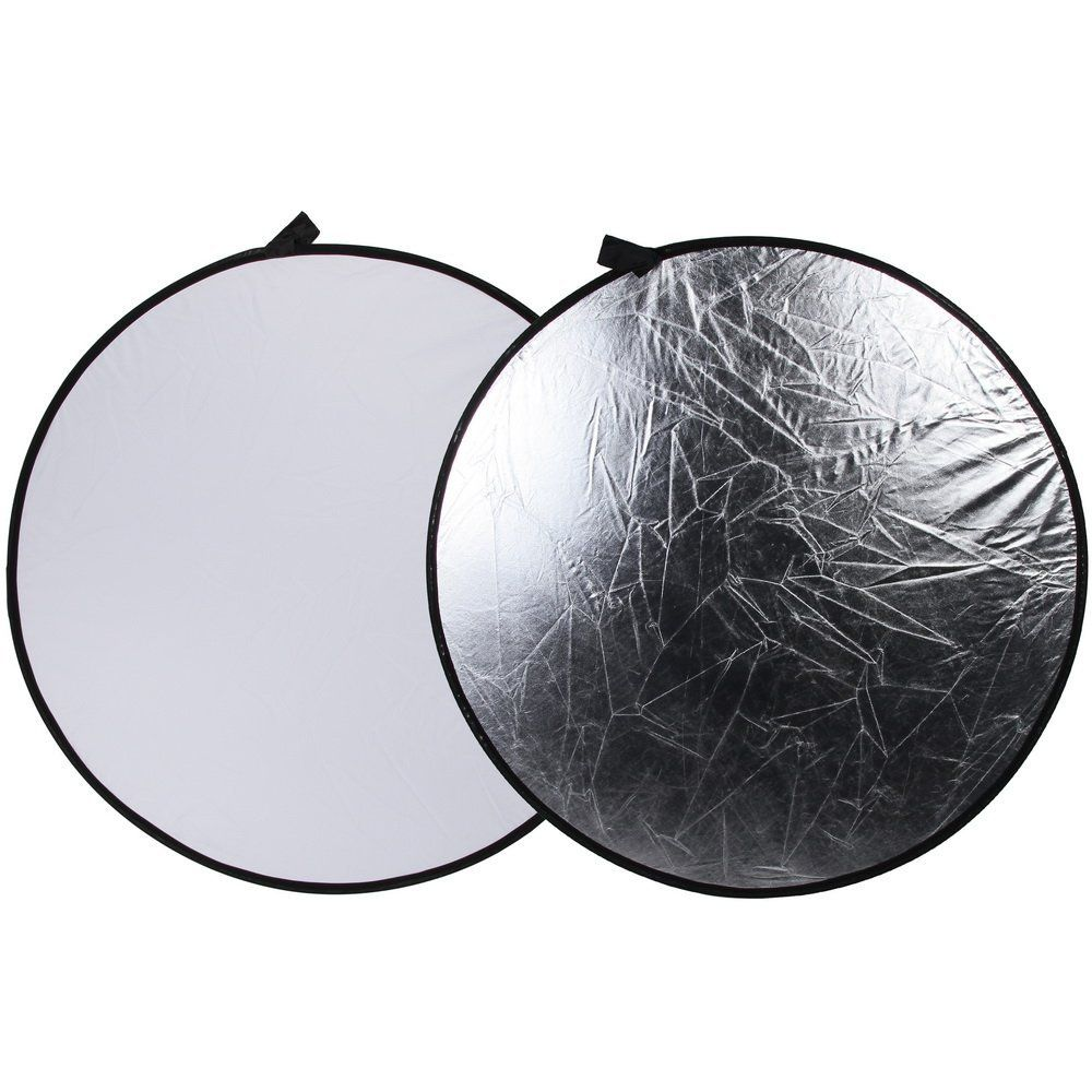 """Amazon.com : Fotga 43"""" 110cm 2-in-1 Light Mulit Collapsible Disc Photography Reflector Silver/white : Camera & Photo"""
