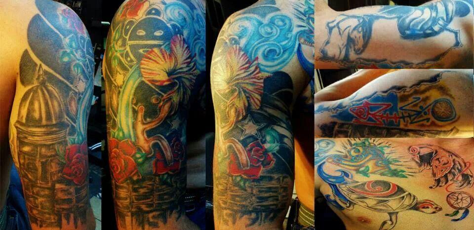 puerto rican inspired half sleeve tattoo portfolio
