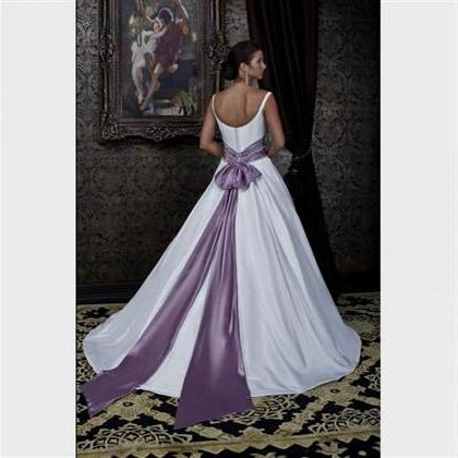 Awesome White Wedding Dress With Purple Accents 2017