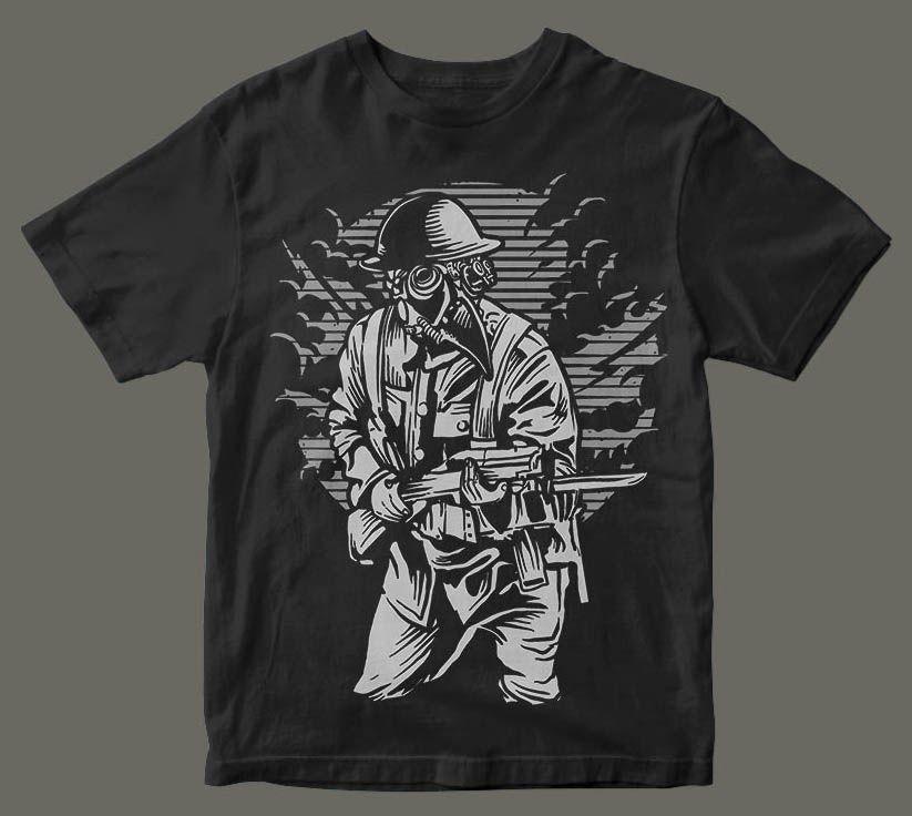 Download Steampunk Style Soldier T Shirt Design Buy T Shirt Designs Tshirt Designs Shirt Designs Steampunk Fashion