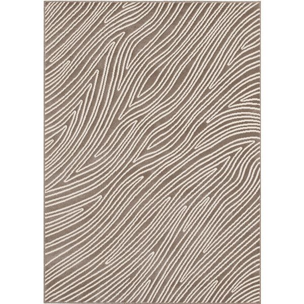 Loft Modern Bark Design Taupe Rug 12 420 Rub Liked On Polyvore Featuring Home