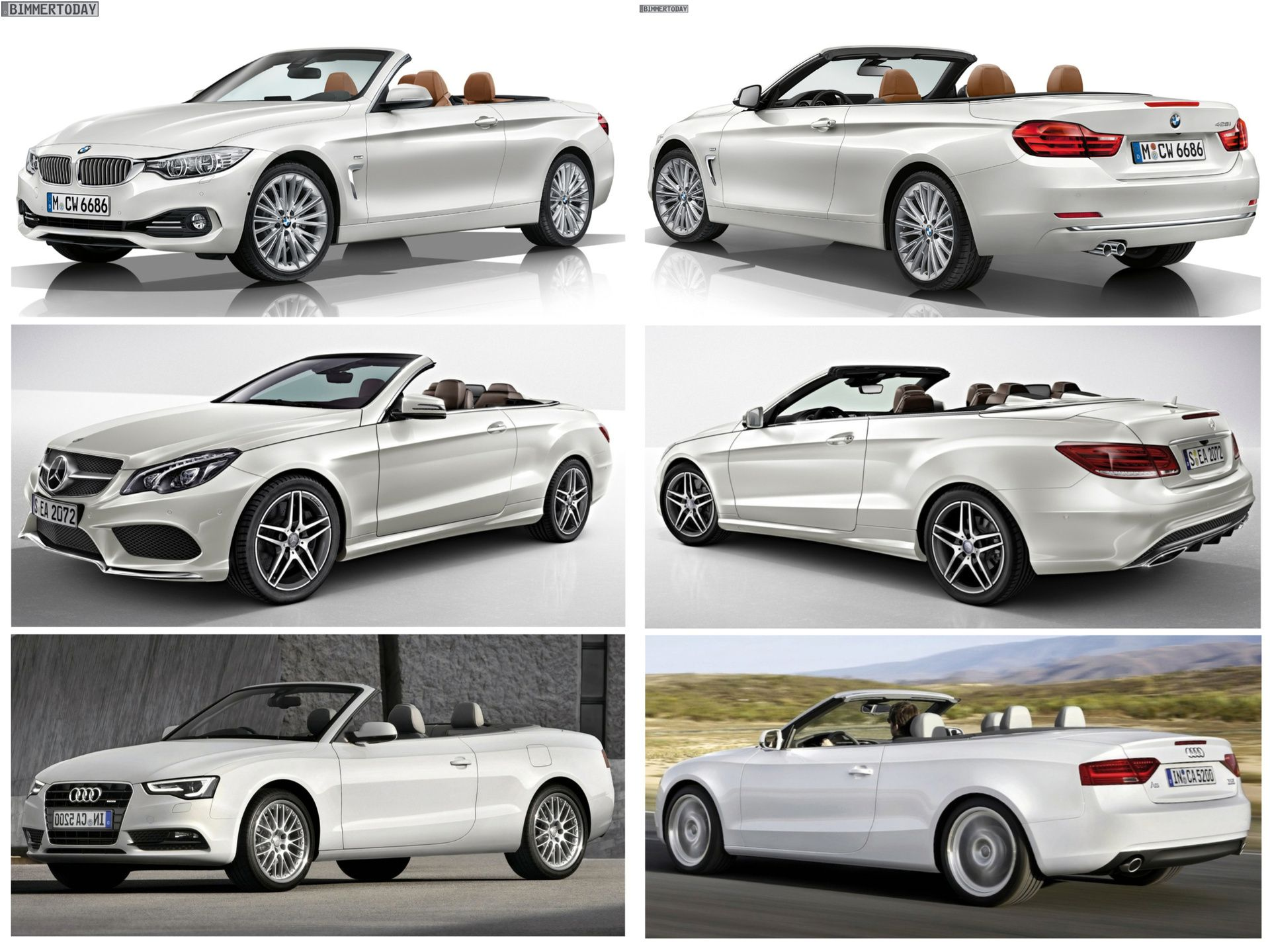 bmw 4 series convertible vs. mercedes-benz e-class vs. audi a5