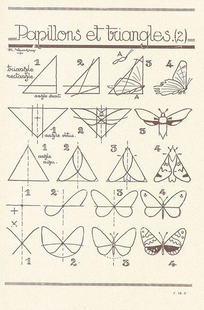 les animaux 6 | Dibujo, Dibujar y Mariposas
