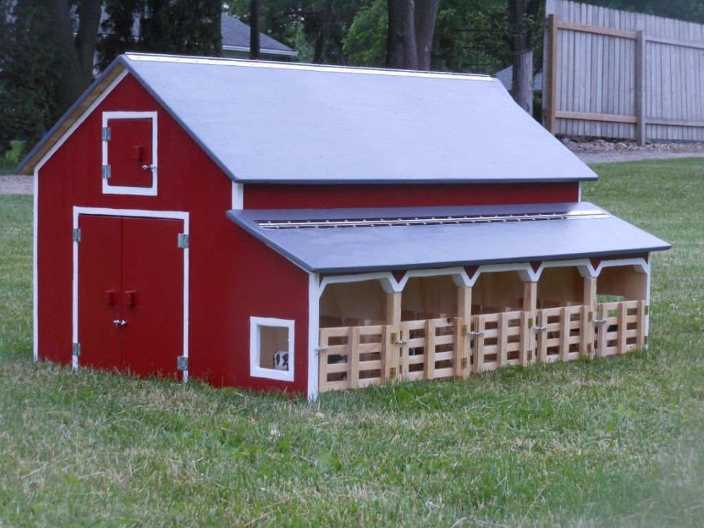 amazing toy barn building plans #3: Kauffmanu0027s Wood Kreations have a large selection of custom or replica barns  and buildings to appeal provide your child with the real farm experience.