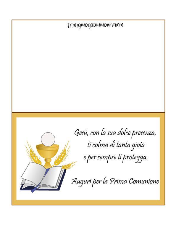 Biglietto Frase Prima Comunione 2 Jpg Immagine Jpeg 595 794 Pixel Riscalata 83 Prima Comunione Comunione Primati