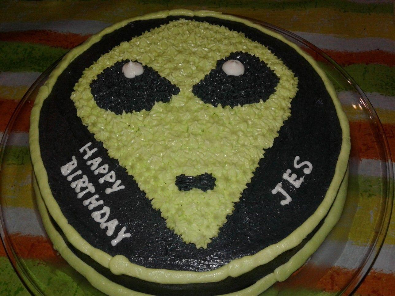 Outstanding Alien Birthday Cake Valentines Cupcakes Cake Birthday Cake Funny Birthday Cards Online Elaedamsfinfo