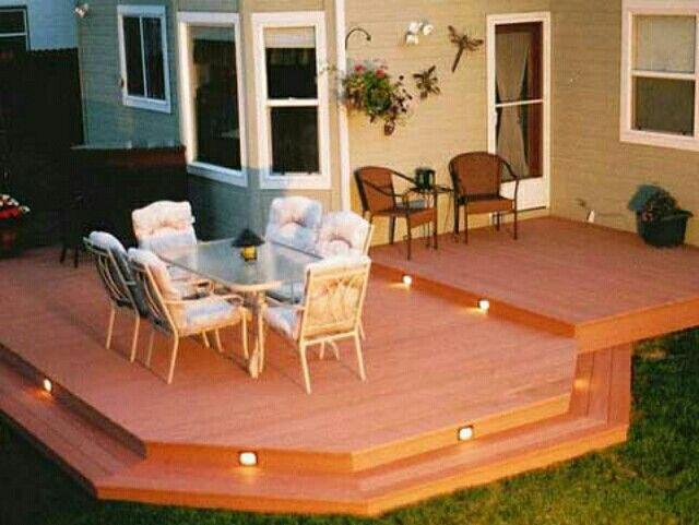 Deck-no railing