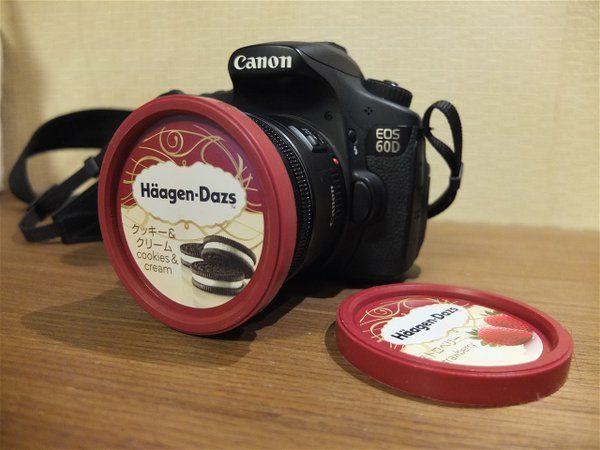 ハーゲンダッツの蓋が72mm径レンズキャップの代用になることは、カメラ持ちの間ではあまりにも有名である。